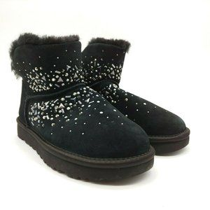 UGG Womens Jeweled Ankle High Winter BootsNEW
